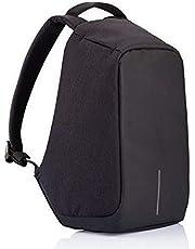 كمبيوتر محمول محمول حقيبة ظهر للجنسين عصرية مضادة للسرقة حقيبة مدرسية للسفر مع منفذ شاحن USB أسود