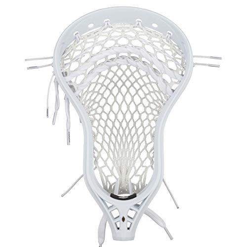 String King Mark 2D Defense Semi-Soft 4s Mesh Strung High White Lacrosse Head