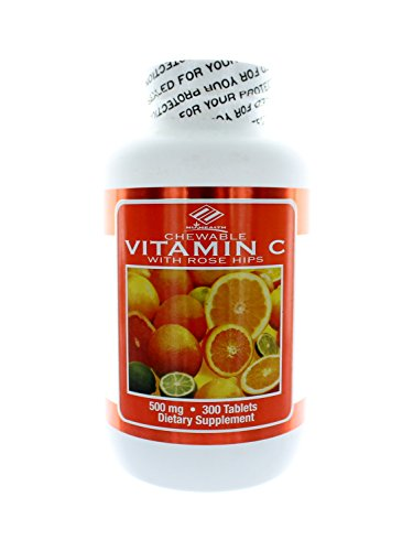 Nu Health Vitamin C Chewable 500mg 300 Tablets (Nu Vitamin C)