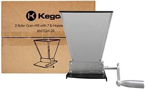 Kegco KM7GM-2R Grain Mill, 7lb Hopper
