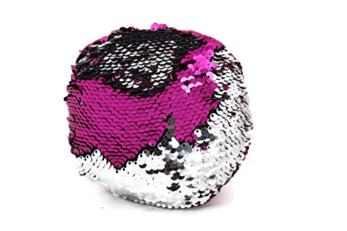 (he Original Fidget - Pink & Silver Circle Shape - Fidget Toy for Sensory Therapy Relieves Stress and Increase Focus for Adults and Children - Stress Toy Helps w ADHD ADD Autism by Little Monkey 2C)
