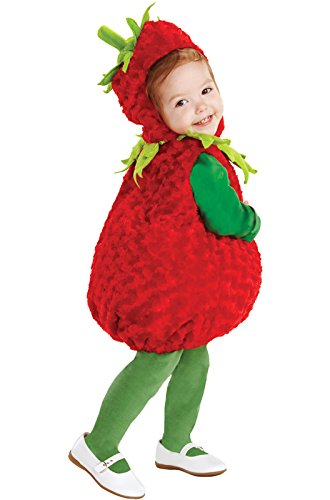 [Underwraps Baby's Strawberry Belly, Red/Green, Large] (Strawberry Costume)