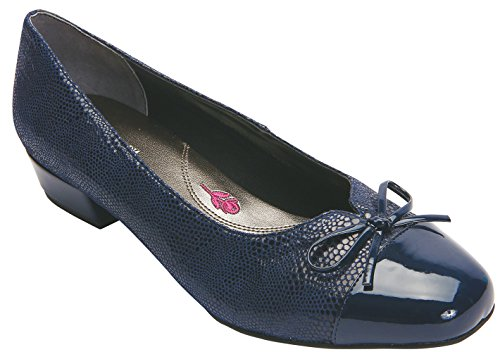 (Ros Hommerson Tawnie Women's Casual Shoe: Navy 8.5 Wide (D) Slip-On)