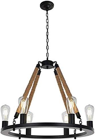 Lxhgl Araña Vintage 6 Luces rústicas Colgantes Luces Decorativas ...