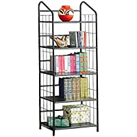 Coaster Casual Black Bookcase with 5 Shelves