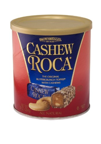 Brown & Haley Toffee (Brown Haley Cashew Roca 10oz Canister (2 Pack))