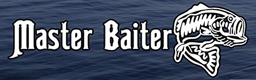 Fresh Decal (Master Baiter Fishing Fish Fresh Water Background Full Color window decal sticker)