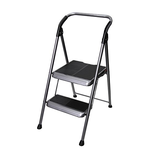 Household Step Stool, Steel, 44inH, 250lb