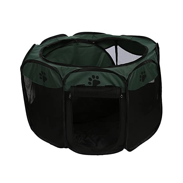 Childplaymate Folding Portable Pet Tent Playpen Exercise Play Dog Fence Puppy Kennel Green Click on image for further info. 4