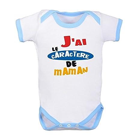 Humour comme Maman 100/% c Coton bodybebepersonnalise.fr Body b/éb/é Fille Turquoise Manches Courtes Rigolo 0//3 Mois