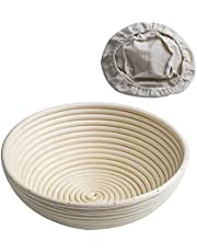 CANDeal Oval 35cm / 13.7 inch Banneton Proving Basket Bread Proofing Rattan Bowl For 850g Dough with Free Liner
