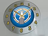 "FanPlastic States and Territories of The USA Wall Clocks - Brand New and Unique Circular State Flag Designs - Size 12"" X 12"" X 2"" !! (Northern Mariana Islands Flag Wall Clock)"