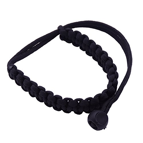 Maveek Braided 550 Paracord Adjustable Camera Wrist Strap / Bracelet for Video Camcorder,Binoculars and Nikon/ Canon/ Sony/ Pentax/ Minolta/ Panasonic/ Olympus/ Kodak/ SLR/ DSLR Digital Cameras ()