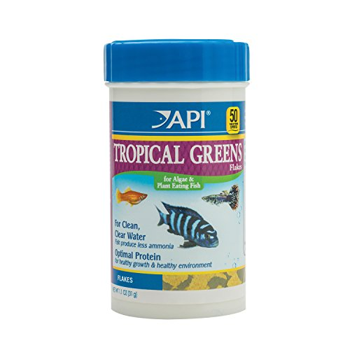 Api Food - API Tropical Greens Flakes Tropical Fish Greens Flakes Fish Food 1.1 oz Container