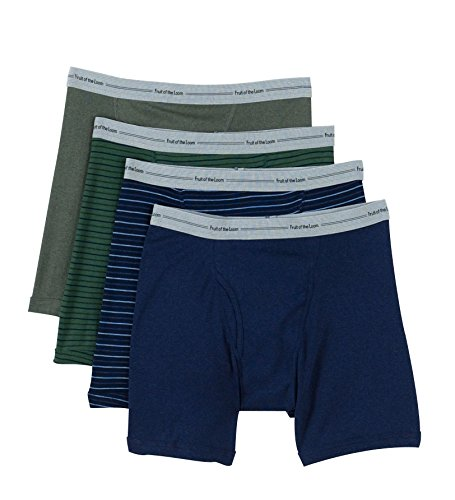 Fruit Of The Loom Men's Assorted Color X-Size Boxer Brief(Pack Of 4) (Stripe & Solid, XX-Large)