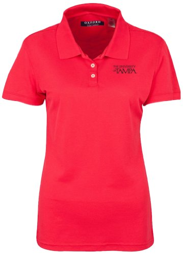 NCAA University of Tampa Women's Ladies' Classic Pique Polo, Cardinal, (Cardinals Classic Pique Polo)