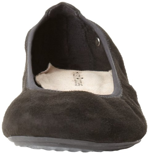 Jane Puppies Mary Flats Suede Hush Ballet Chaste Black Women's pWgqX