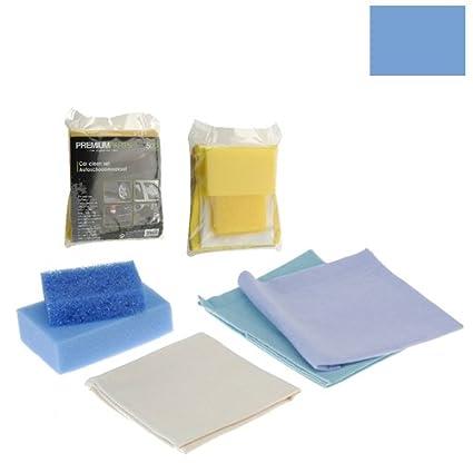 Car Care Cleaning Set Chamois, Sponges 5 Piece (Yellow) Premium Parts Car Equipment