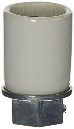 - Leviton 10051 Medium Base, One-Piece, Keyless, Incandescent, Glazed Porcelain Lampholder, White