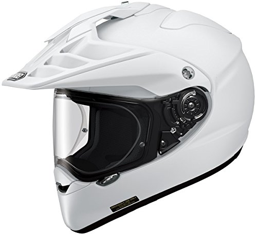 Shoei Hornet X2 White Dual Sport Helmet - - Domain Pads Cheek