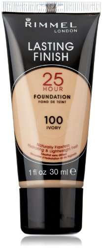 Rimmel Lasting Finish 25 Hour Liquid Foundation Ivory, 1 Ounce