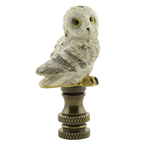Snow Owl Lamp Finial - 2 Inch High