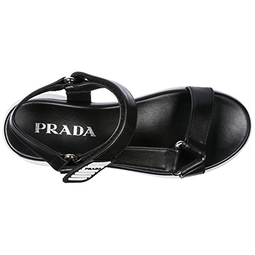 Prada Women's Leather Sandals Black ShCaCWAE1