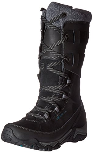 Merrell Women's Polarand Rove Peak Waterproof Winter Boot,Black,9.5 M US - Merrell Winter Boots
