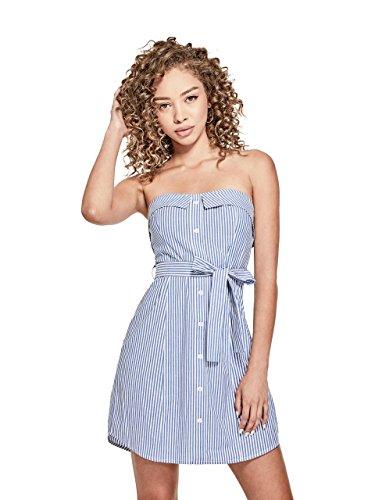 less Poplin Waist-Tie Button-up Summer Dress (Strapless Poplin)