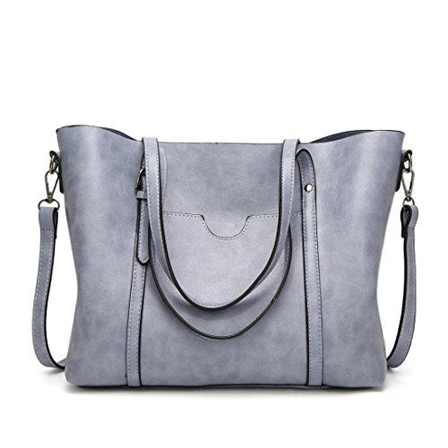 Messenger Bag in borsa moda artificiale borsa a tote borsa Borsa cerniera con Donna chiaro tracolla crossbody benna pelle borsa Tracolla Blu casual Luoluoluo YqwaTxXCfq