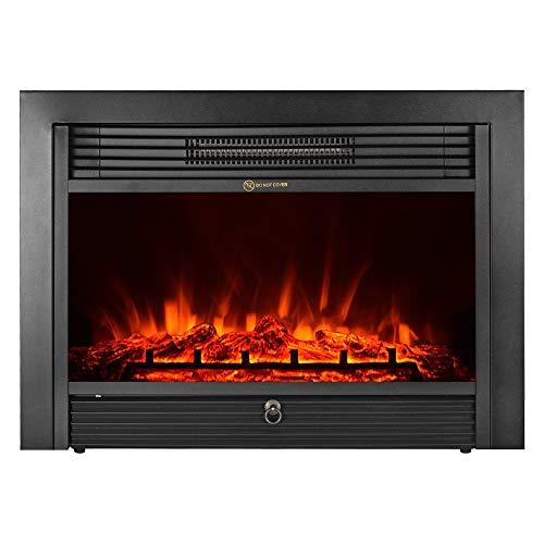 "28.5"" Embedded Fireplace Electric Insert Heater Glass View Log Flame Remote Home from Unknown"