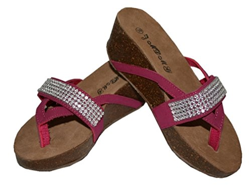 strass avec 042 39 Sandale rose taille S1Cznwq
