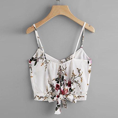 Damen para shirt122 Bailarinas SANFASHION SANFASHION Mujer Bekleidung Blanco1 A4qwExR