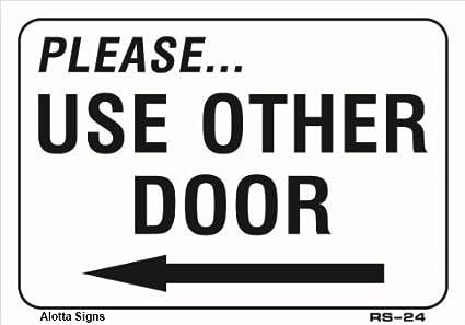 amazon com please use other door with left arrow 7x10 heavy duty