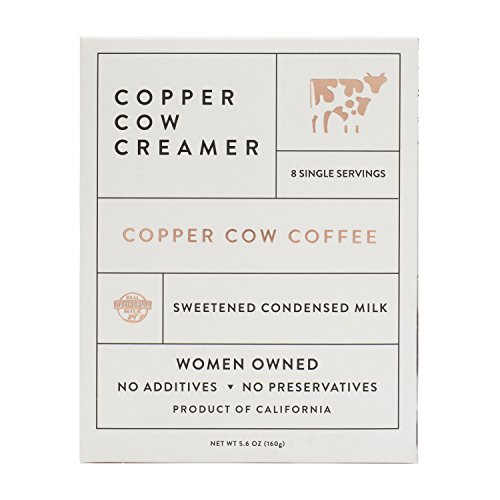 Copper Cow Creamer - All Natural Coffee Sweetener with California Condensed Milk - Single Serving Liquid Packets (3 cases of 8: 24 total (Serving Unit)