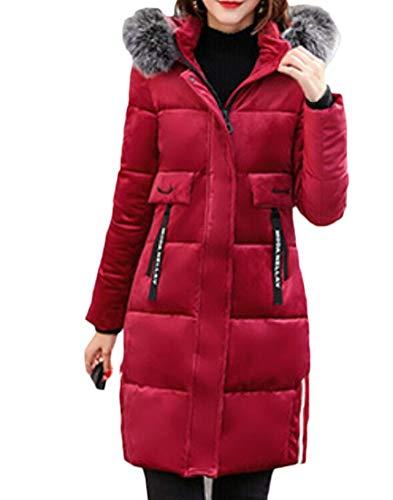 Coat Thick 2 Womens Warm Jackets Down Long Hood EKU nvUxT0q