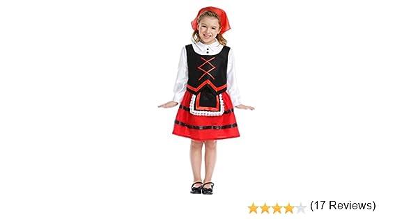 Disfraz de Pastora Infantil (3-4 años): Amazon.es: Juguetes y juegos