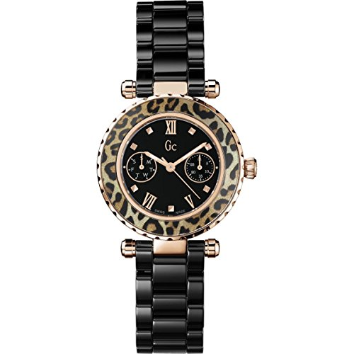 Guess Collection X35016L2S 34mm Stainless Steel Case Black Ceramic Synthetic Sapphire Women's (Guess Ceramic Watch)