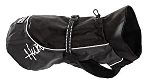 Hurtta Pet Collection 18-Inch Raincoat, Black