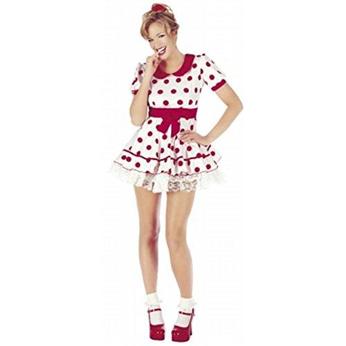 Aquípresentes Carcasa de Oromiss modelos de smartphones traje de neopreno para mujer rojos Retro de lunares de conjunto de lunares vestido de Fancy Dolly