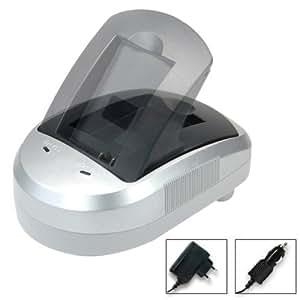 Blumax 300230 - Cargador para baterías Sony NP-FV-30, FV-50, FV-70, NP-FP50, FP-70, FP-90, NP-FH50, FH-70, FH-100, AC-VQP10 y BC-TRP (alimentador de 12 V, adaptador de coche de 12 V y estación de carga)