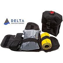 Delta Provision Co. Trauma Kit - Quick Rip Away Pouch w/Combat Tourniquet, Israeli Bandage, Splint Inside - MOLLE System - Tactical Survival Kit