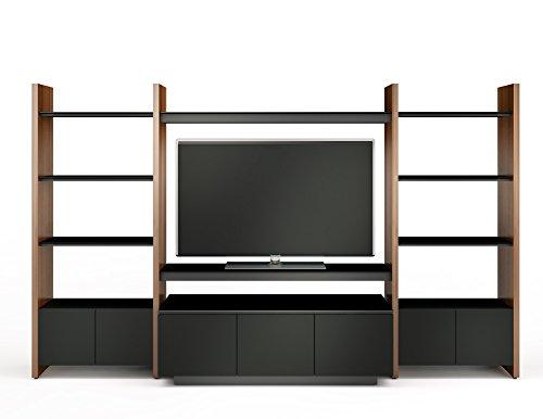 BDI Semblance 5423-TJ Three Section Media System (Natural Walnut/Black)