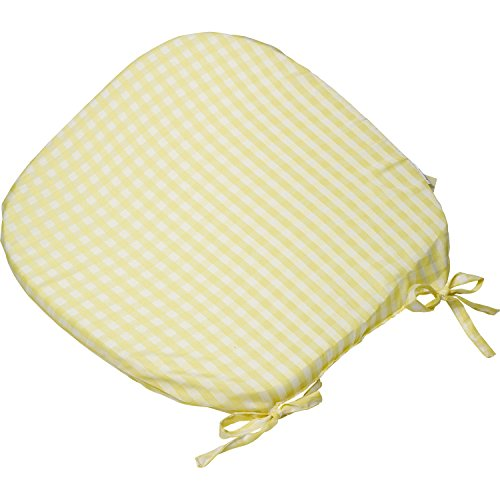 Gingham Check Round Seat Pad Outdoor Garden Dining Kitchen Chair Cushion 16