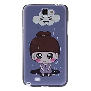 Rainy Girl Pattern Hard Case for Samsung Galaxy Note2 N7100