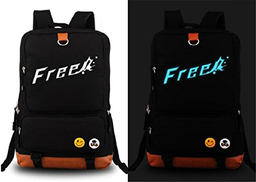 Siawasey Anime Free! Eternal Summer Cosplay Luminous Backpack Shoulder Bag School Bag by Siawasey