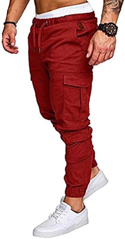 Emmay Herbst Hosen Männer Jeans Lose Trend Wesentlich Gerade Stretch Jeans Männer Hohe Taille Jugend Beam Hose Männer Mode Vintage Casual Hosen (Color : Z-Rot, Einheitsgröße : 40W): Odzież