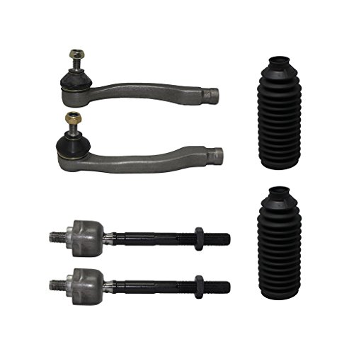 Front Axle Kit (Detroit Axle - Brand New 6-Piece Complete Front Tie Rod Kit 1996-2000 Honda Civic 10-Year Warranty- All (4) Inner & Outer Tie Rods, Both (2) Rack and Pinion Tie Rod Boots…)