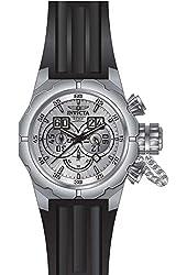 Invicta Men's Russian Diver Black Silicone Band Steel Case Quartz Silver-Tone Dial Analog Watch 21680
