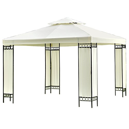 Tangkula 2 Tier 10'x10' Gazebo Shelter Tent Outdoor Party Canopy Tent Outdoor Awning